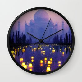Temple Of The Oasis Wall Clock