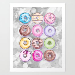 Donut Invasion Art Print
