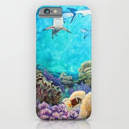 Shiver - Sharks in the Reef iPhone Case