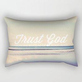 Trust God - Proverbs 3:5-6 Rectangular Pillow