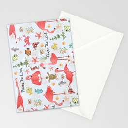 "© Little Flamingo ""Praise the Lord"" Stationery Cards"