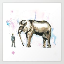 Jumbo elephant Art Print
