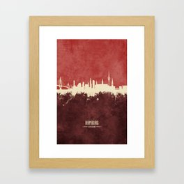 Hamburg Germany Skyline Framed Art Print
