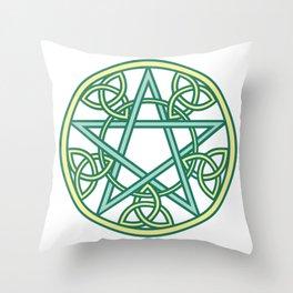 Celtic Pentacle Throw Pillow