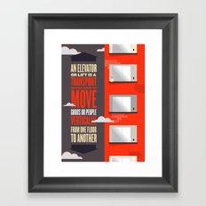 Elevator - Illustrated Wikipedia Framed Art Print