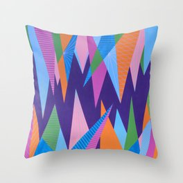 Crystal Stalagmites Throw Pillow