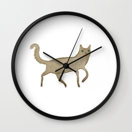Suspicious-Looking Moggy Wall Clock