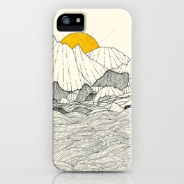 The land and the sea iPhone Case