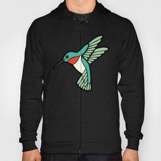 Hummingbird Pattern Hoody
