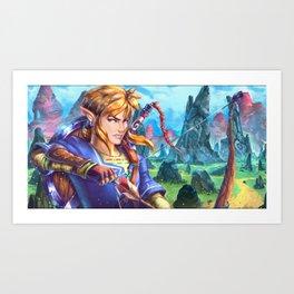 Zelda U Link painting Art Print