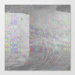 04-24-14 (Pink Cloud Bitmap Glitch) Canvas Print