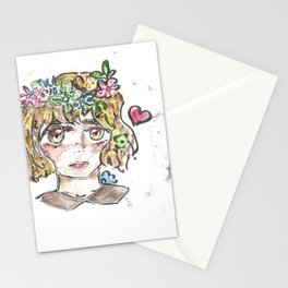 Flower Crown of Hearts Stationery Cards