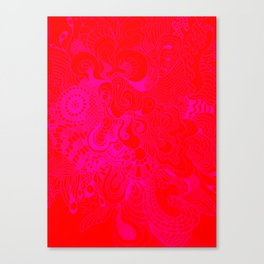 Double Vanilla Pink & Red Canvas Print