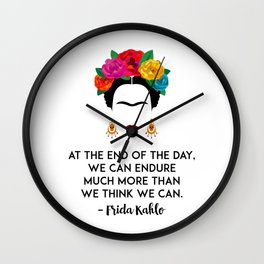 Frida's Strength Wall Clock