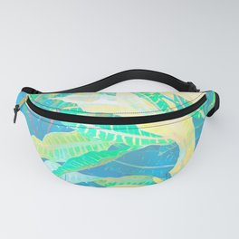 Tropical Croton Leaves 3 Fanny Pack
