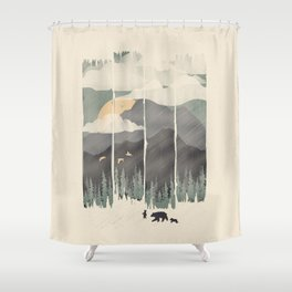 Spring Mountain Weather Shower Curtain
