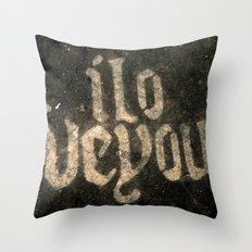 iloveyou Throw Pillow