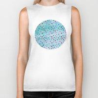polka dots Biker Tanks featuring Polka Dot Pattern 05 by Aloke Design