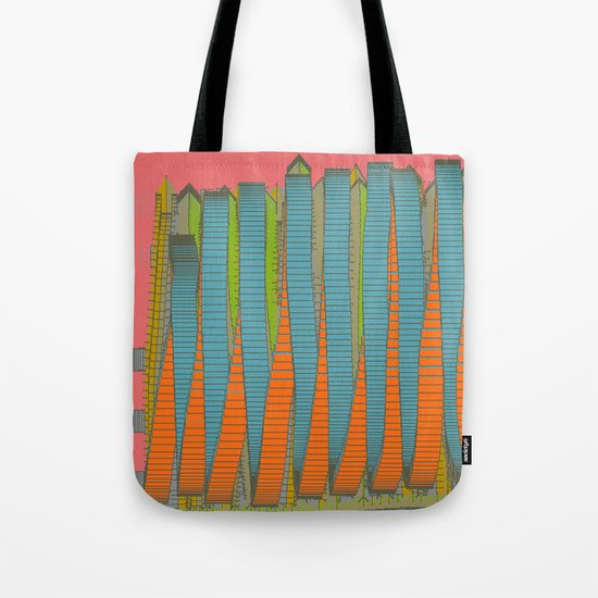 Fabulous Lights on Boulevard Glass Buildings Tote Bag