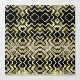 Tribal Gold Glam Canvas Print