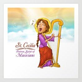 St. Cecilia Poster Art Print