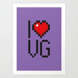 PAUSE – I Love Video Games Art Print