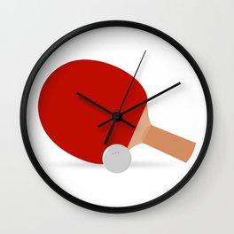 Ping-Pong Racket & Ball Wall Clock