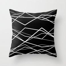 B/W geometric pattern (waves) Throw Pillow