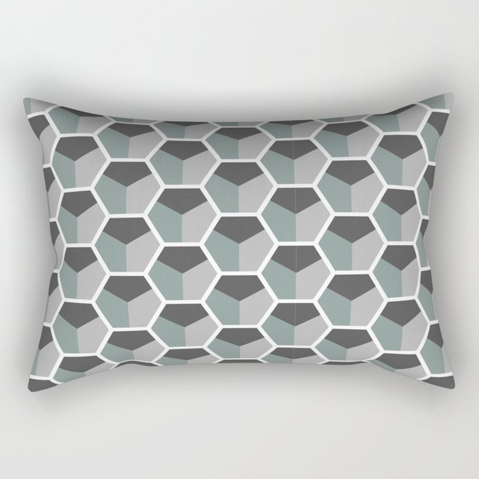 Hexagons Rectangular Pillow