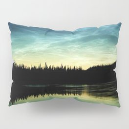 Noctilucent Clouds Over Forest Lake Pillow Sham