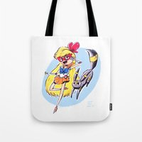 sailor venus Tote Bags featuring Sailor Venus by Caity Hall Art