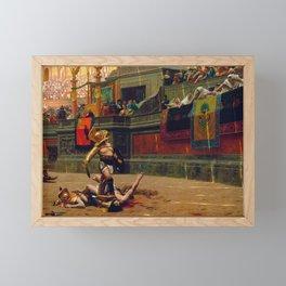 Jean-Leon Gerome - Pollice Verso - Digital Remastered Edition Framed Mini Art Print