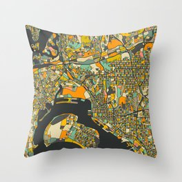 SAN DIEGO MAP Throw Pillow