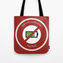 No E-Bike No Battery Tote Bag