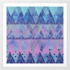 Layered Triangles 2 Art Print
