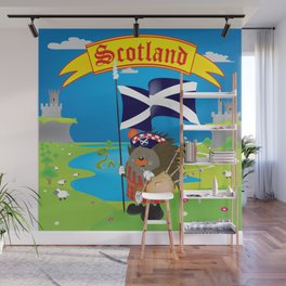 Greetings from Scotland Wall Mural