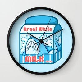 Great White Milk Wall Clock