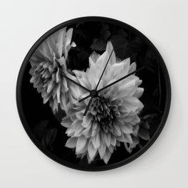 Darkness Blooming Wall Clock