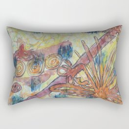Beach Vegetation With Octopus Rectangular Pillow