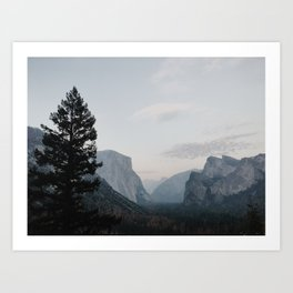 Tunnel View Yosemite Art Print