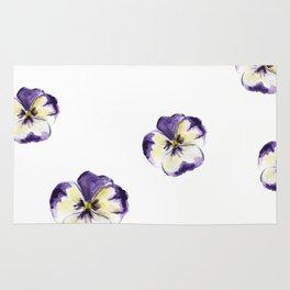 Purple flowers Rug
