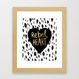 Rebel Heart Framed Art Print
