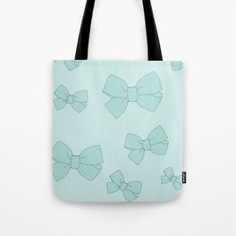 blue bow Tote Bag