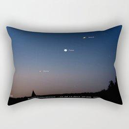 Southeast sky before sunset. Rectangular Pillow