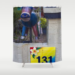 Metal Goat Letterbox Shower Curtain