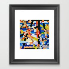 January (stripes 6) Framed Art Print