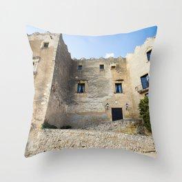 Spanish Building Throw Pillow