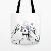 iggy azalea Tote Bags featuring Iggy Azalea 2 by Tiffany Taimoorazy