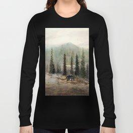 Mountain Black Bear Long Sleeve T-shirt