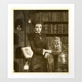 Dark Victorian Portrait Series: The Royal Necromancer of the British Empire Art Print